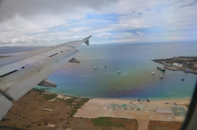 Landing on Baltra