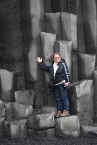 Carol with basalt columns