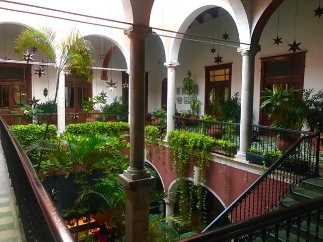 Atrium of hotel
